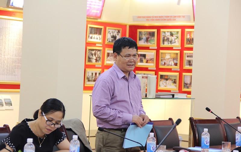 PGS.TS. Trần Kim Trung – Phó Viện trưởng Viện Nghiên cứu quản lý kinh tế Trung ương góp ý về nội dung Chiến lược