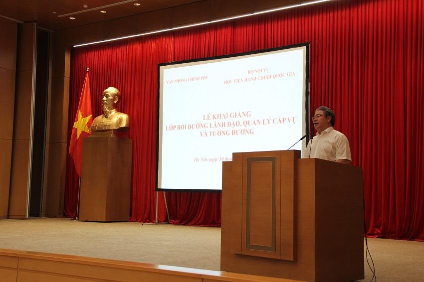 TS. Đặng Xuân Hoan - Giám đốc Học viện phát biểu tại buổi lễ khai giảng