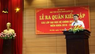 TS. Bùi Huy Tùng – Chánh Văn phòng, Phụ trách điều hành Ban Quản lý bồi dưỡng phát biểu tại buổi lễ