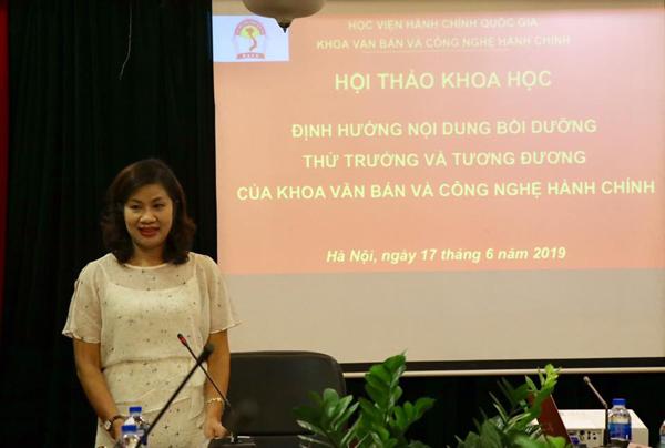 PGS.TS. Nguyễn Thị Thu Vân, Trưởng Khoa Văn bản và Công nghệ hành chính