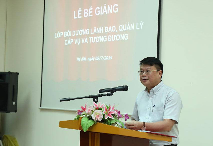 TS. Bùi Huy Tùng - Chánh Văn phòng, Phụ trách điều hành Ban Quản lý bồi dưỡng Học viện Hành chính Quốc gia công bố các quyết định