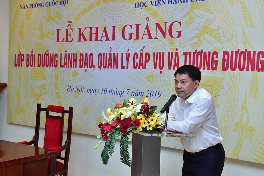 ThS. Tống Đăng Hưng - Phó Trưởng Ban Quản lý Bồi dưỡng Học viện Hành chính Quốc gia công bố các quyết định