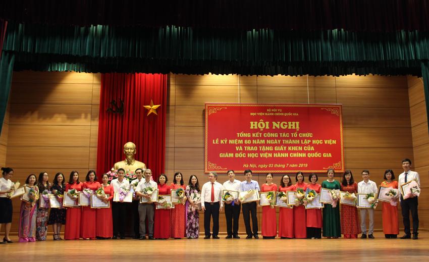 Các cá nhân được nhận giấy khen của Giám đốc Học viện
