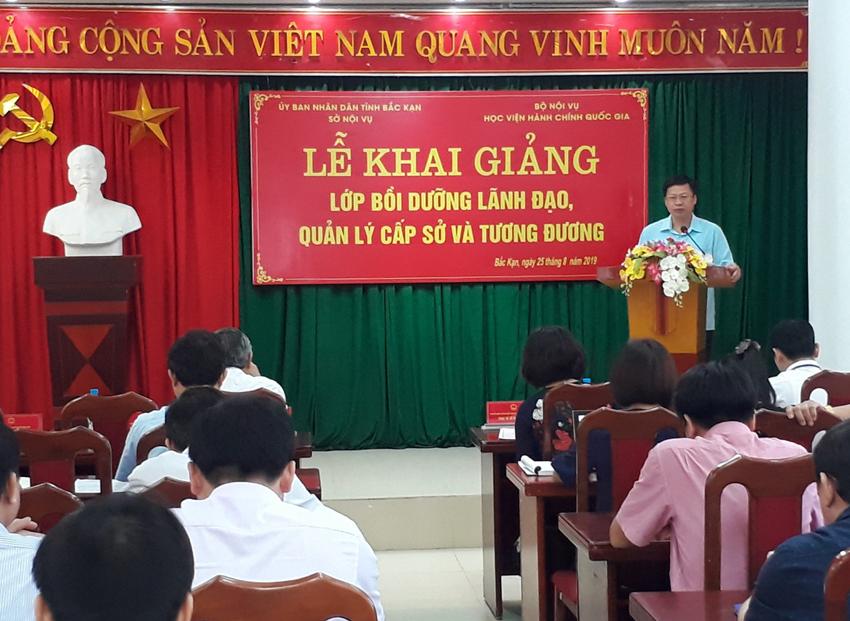 Đồng chí Phạm Duy Hưng - Phó Chủ tịch Ủy ban nhân dân tỉnh Bắc Kạn phát biểu tại buổi lễ