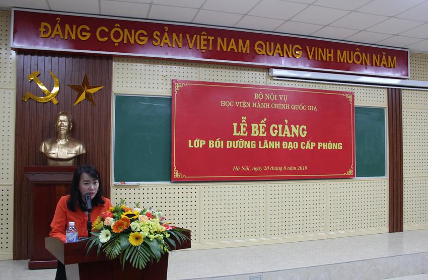 ThS. Nguyễn Thị Tâm – Phó Trưởng phòng Quản lý bồi dưỡng theo chức vụ lãnh đạo quản lý