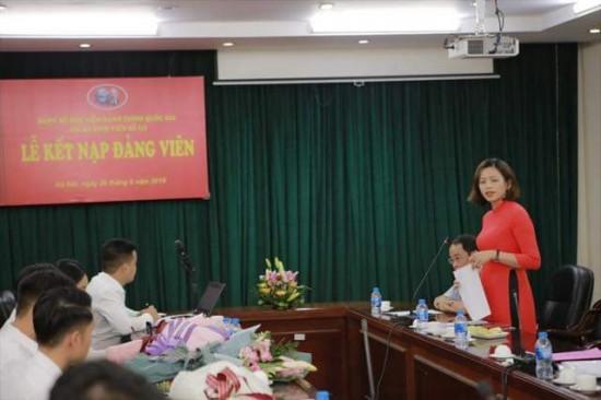 Đc Lý Thị Kim Bình, Bí thư Chi bộ phát biểu
