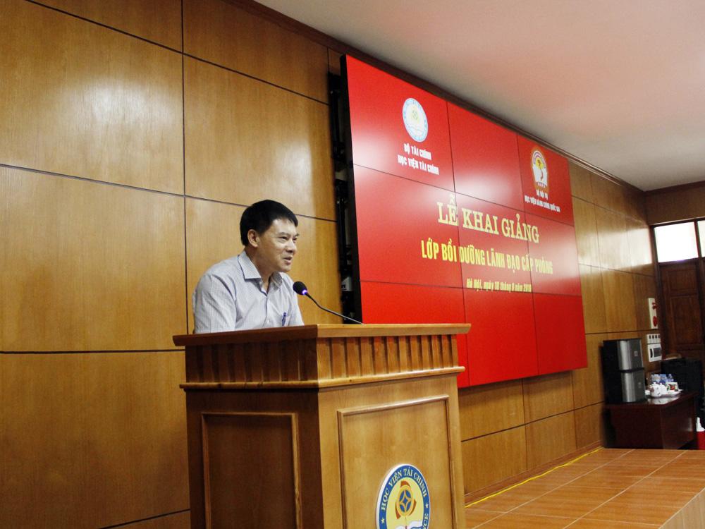 ThS. Tống Đăng Hưng phát biểu khai giảng khóa học