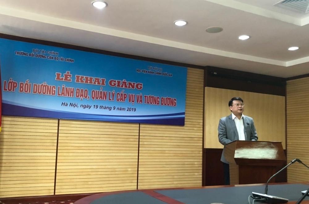TS. Bùi Huy Tùng - Chánh Văn phòng, Phụ trách điều hành Ban Quan lý bồi dưỡng phát biểu khai giảng khóa học