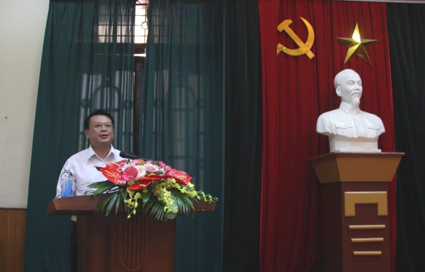 TS. Bùi Huy Tùng – Chánh Văn phòng Học viện, Phụ trách điều hành Ban Quản lý bồi dưỡng  phát biểu ttại buổi lễ