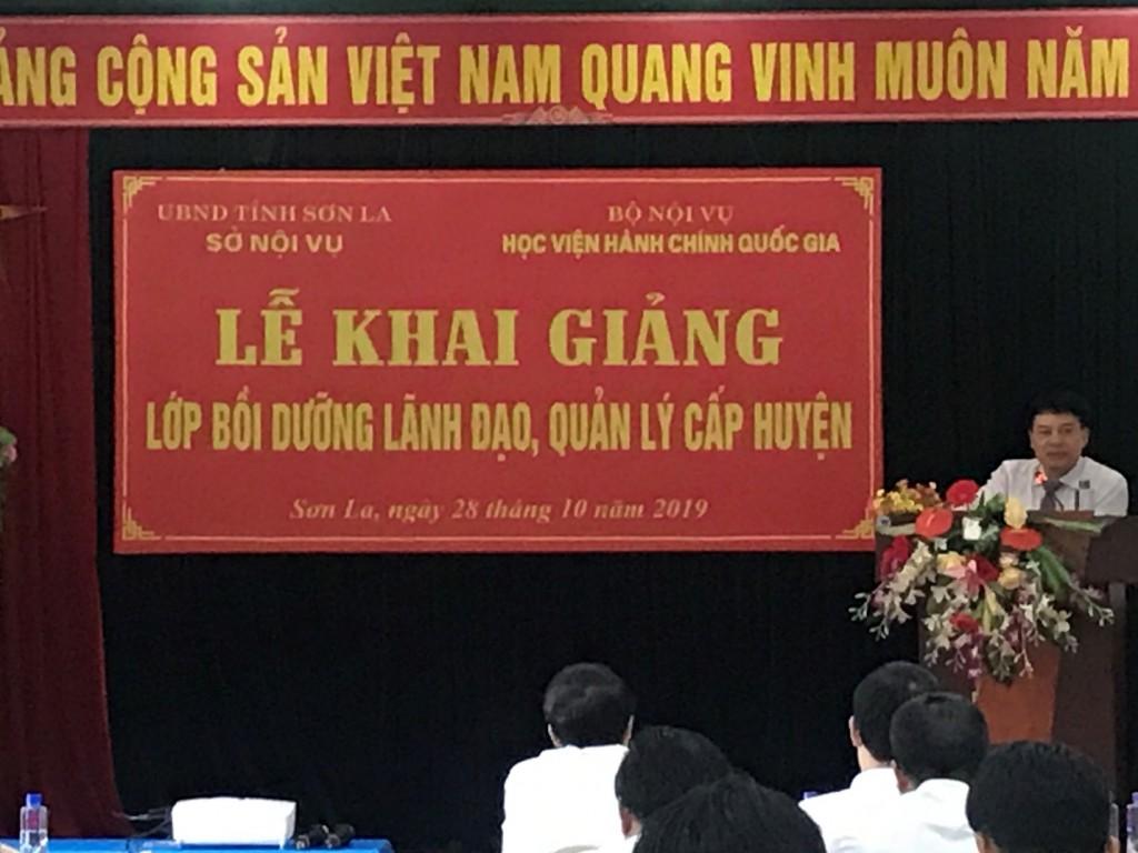 ThS. Tống Đăng Hưng – Phó Trưởng Ban Quan lý bồi dưỡng, HVHCQG phát biểu khai giảng khoá học