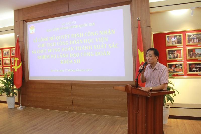 Đồng chí Chu Xuân Khánh phát biểu cảm ơn
