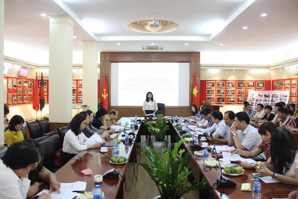 PGS.TS. Nguyễn Thị Thu Vân kết luận hội thảo