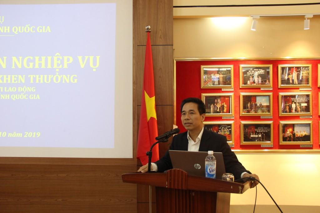 TS. Nguyễn Tiến Hiệp, Trưởng Ban Tổ chức cán bộ phát biểu khai mạc