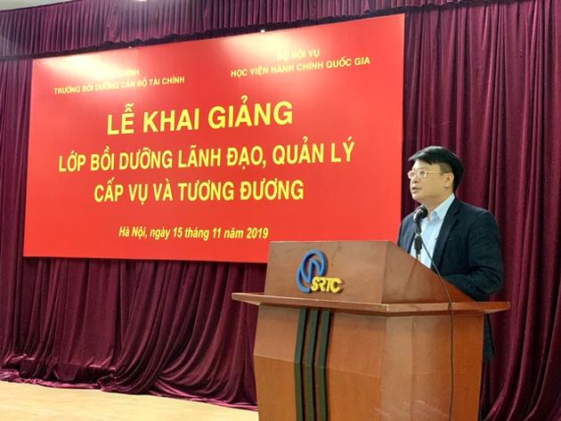 TS. Bùi Huy Tùng, Trưởng ban Quản lý bồi dưỡng, Học viện Hành chính Quốc gia  công bố các quyết định