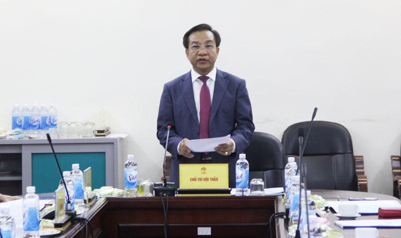 TS. Nguyễn Đăng Quế, Phó Giám đốc Học viện phát biểu khai mạc
