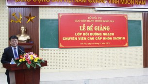 TS. Bùi Huy Tùng, Trưởng Ban quản lý bồi dưỡng phát biểu chúc mừng lớp họp