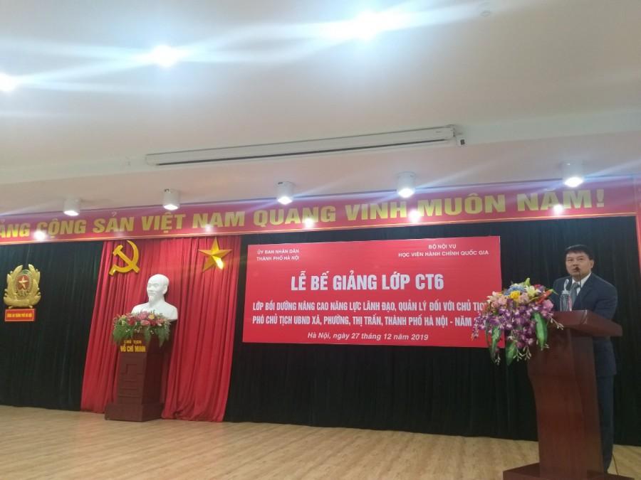 ThS. Tống Đăng Hưng, Phó Trưởng ban, Ban Quản lý bồi dưỡng phát biểu tại buổi Lễ