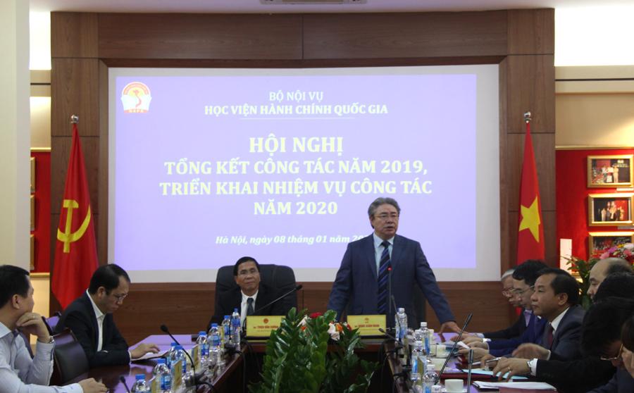 TS. Đặng Xuân Hoan – Giám đốc Học viện phát biểu tại Hội nghị