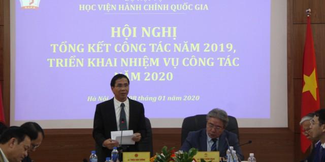 NGƯT.PGS.TS. Triệu Văn Cường – Uỷ viên Ban cán sự Đảng, Thứ trưởng Bộ Nội vụ phát biểu chỉ đạo tại Hội nghị