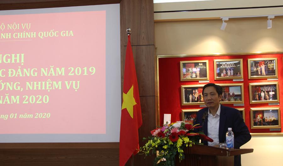 Đồng chí Trần Anh Tuấn – Uỷ viên Ban cán sự Đảng, Thứ trưởng Bộ Nội vụ phát biểu chỉ đạo tại Hội nghị