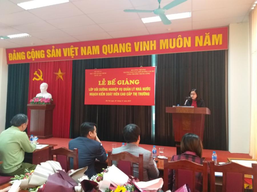 ThS. Vương Thanh Thủy, Trưởng phòng QLBD theo ngạch và vị trí việc làm, Ban Quản lý bồi dưỡng công bố các Quyết định cấp chứng chỉ, Quyết định khen thưởng của Giám đốc Học viện