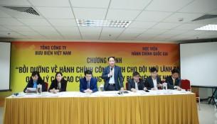 Ông Phạm Anh Tuấn, Thứ Trưởng Bộ Thông tin và Truyền thông  phát biểu chỉ đạo khóa học