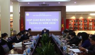TS. Đặng Xuân Hoan - Giám đốc Học viện kết luận tại buổi họp