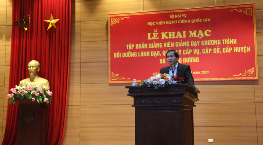 Thứ trưởng Bộ Nội vụ Triệu Văn Cường phát biểu chỉ đạo