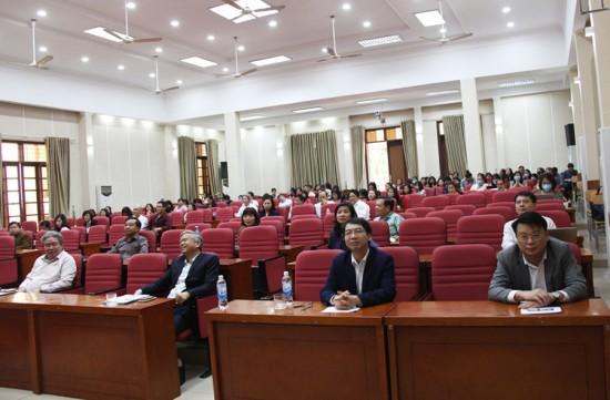 Các đại biểu tham dự Lễ bế mạc  khóa tập huấn