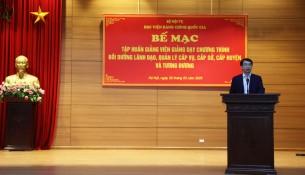 PGS. TS. Lương Thanh Cường phát biểu tại Lễ bế mạc