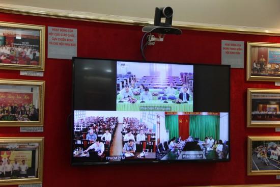 Hình ảnh trực tuyến của các Phân viện trong buổi họp giao ban