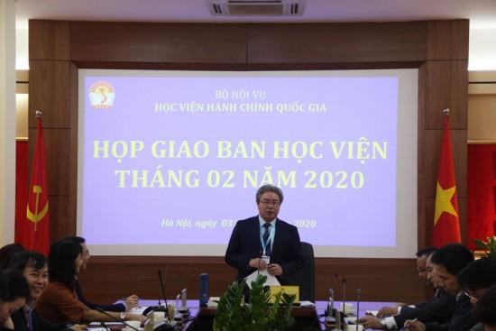 TS. Đặng Xuân Hoan – Giám đốc Học viện kết luận tại buổi họp