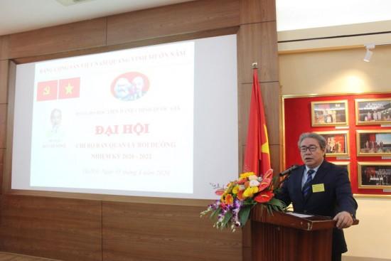 Đ/c Đặng Xuân Hoan - Bí thư Đảng uỷ, Giám đốc Học viện Hành chính Quốc gia phát biểu chỉ đạo tại Đại hội