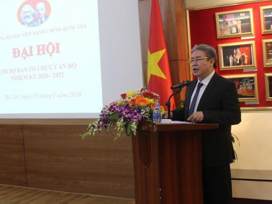 Đ/c Đặng Xuân Hoan - Bí thư Đảng uỷ, Giám đốc Học viện phát biểu chỉ đạo Đại hội