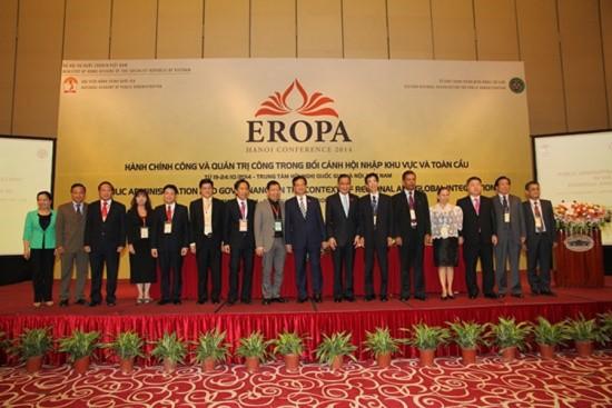 Học viện Hành chính Quốc gia  đăng cai tổ chức Hội nghị thường niên                     của Tổ chức Hành chính Miền Đông thế giới (EROPA) năm  2014