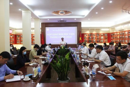 Toàn cảnh buổi họp giao ban tháng 4/2020
