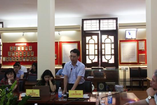PGS.TS. Lương Thanh Cường, Phó Giám đốc Học viện phát biểu tại buổi họp.