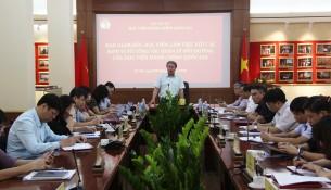 TS. Đặng Xuân Hoan, Giám đốc Học viện chủ trì buổi họp.