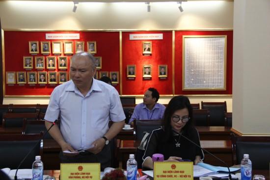 Đồng chí Vũ Đăng Minh, Chánh Văn phòng Bộ phát biểu góp ý dự thảo Đề án.