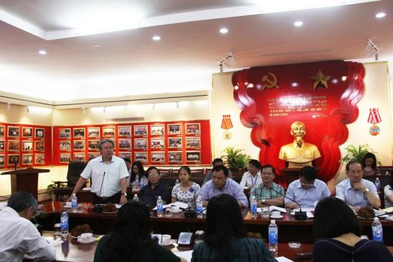 TS. Đặng Xuân Hoan, Giám đốc Học viện phát biểu tại Tọa đàm