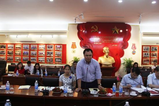 PGS.TS. Nguyễn Quốc Sửu, Phó hiệu trưởng Trường Đại học Nội vụ phát biểu tại Tọa đàm