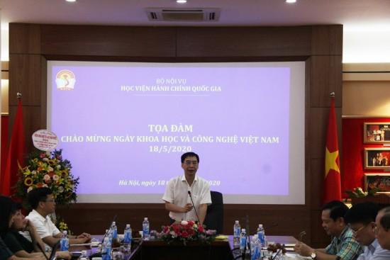 PGS.TS. Lương Thanh Cường, Phó Giám đốc Học viện phát biểu khai mạc Tọa đàm