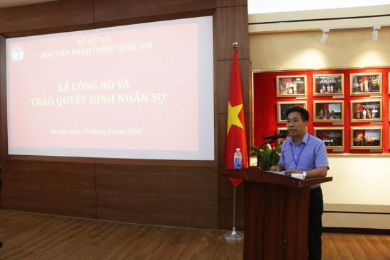 TS. Nguyễn Tiến Hiệp, Trưởng Ban Tổ chức cán bộ đọc Quyết định