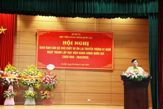 Đ/c Nguyễn Ngọc Hiến- Nguyên Thứ trưởng Bộ Nội vụ, Bí thư Đảng ủy, Giám đốc Học viện