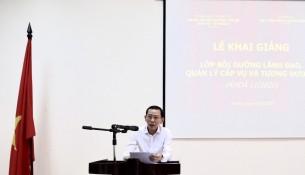 Đồng chí Võ Thành Thống, Ủy viên Ban Cán sự Đảng, Thứ trưởng Bộ Kế hoạch và Đầu tư phát biểu tại buổi lễ