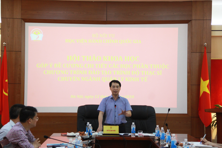 PGS.TS. Lương Thanh Cường, Phó Giám đốc Học viện phát biểu kết luận Hội thảo