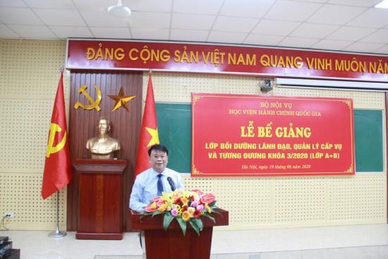 TS. Bùi Huy Tùng, Trưởng Ban Quản lý bồi dưỡng đọc Quyết định cấp chứng chỉ