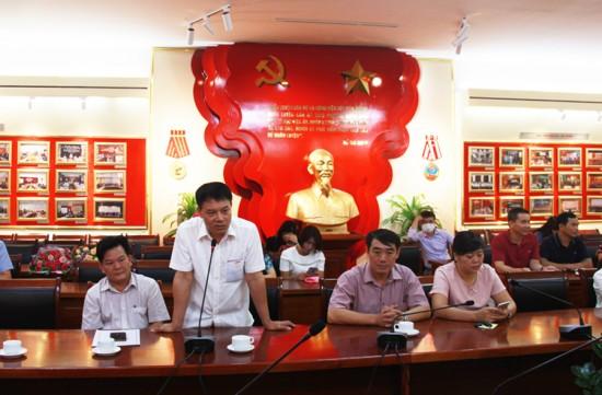 Đ/c Tống Đăng Hưng, Phó Chủ tịch Công đoàn Học viện phát biểu tại buổi lễ