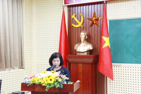 ThS. Lê Thị Thanh Hồng, Ban quản lý bồi dưỡng tuyên bố lý do khai giảng