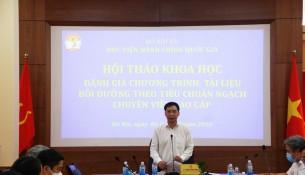 PGS.TS. Lương Thanh Cường, Phó Giám đốc Học viện phát biểu chủ trì hội thảo